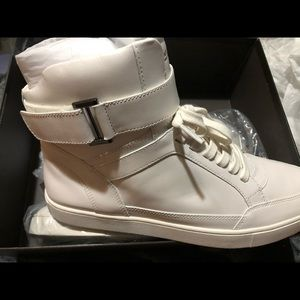 White leather Michael Kors shoes